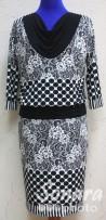 Платье Fomanta м.4066 р.44-50(50-56) черно-белый