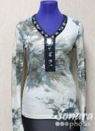 Блузка Femina м.11731 р.1-2(50-52) голубой