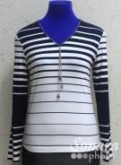 Блузка Femina м.24709 р.1-2(50-52) синий,черный