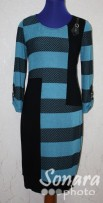 Платье Gemko м.12483 р.1-4(50-56) синий