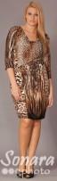 Платье Gemko м.12762 р.1,2(50,52) коричневый