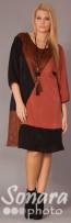 Платье Gemko м.12852 р.2(52) коричневый