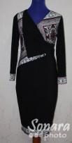Платье Gemko м.12995 р.1-4(50-56) черный