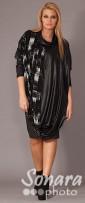Платье Gemko м.13003 р.1-4(50-56) черный