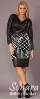 Платье Gemko м.13075 р.1-4(50-56) черный