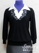Блузка Fellinaz м.1190 р.2-6(44-52)черный