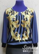 Блузка Fellinaz м.1249 р.2-6(44-52) синий
