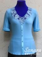 Блузка Fellinaz м.172 р.2-6(44-52) голубой