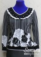 Блузка Fellinaz м.417 р.2-5(44-50) черный.