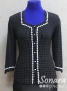 Блузка Fellinaz м.427 р.2,3(44,46) черный