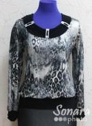 Блузка Fellinaz м.486 р.2-4(44-48) черный