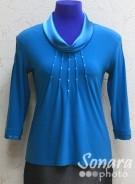 Блузка Fellinaz м.495 р.2-6(44-52) бирюзов,синий