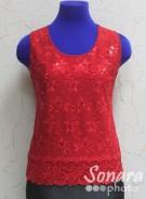 Блузка Fellinaz м.7574 р.3-8(46-56) красный