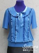 Блузка Fellinaz м.819 р.2-6(44-52) бирюзовый