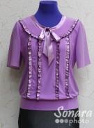 Блузка Fellinaz м.819 р.2-6(44-52) лиловый