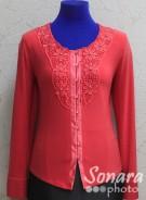 Блузка Fellinaz м.903 р.2-6(44-52) бежев,красный,сирень