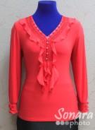 Блузка Fellinaz м.904 р.2-6(44-52) коралл