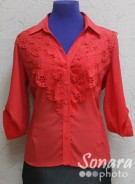 Блузка Eseoglu м.546 р.46-52(52-58) красный