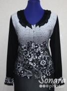 Блузка Fellinaz м.06 р.2(44), черный