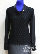 Блузка Fellinaz м.16 р.3,4,6 (46,48,52) черный