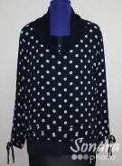 Блузка Femina м.19219 р.44-48(50-54) синий,черный
