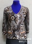 Блузка Fellinaz м.206 р.3-6(46-52) коричневый