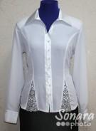 Блузка Fellinaz м.35 р.2-6(44-52) белый,черный