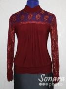 Блузка Fellinaz м.92 р.2-6(44-52) бордовый