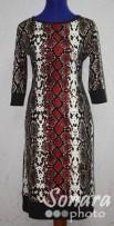 Платье Reva&Ro м.2476 р.44-48(50-54) красный,коричн.
