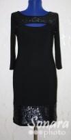 Платье Reva&Ro м.7183 р.36-40(42-46) черный