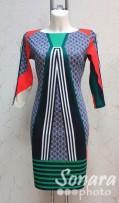 Платье Reva&Ro м.7239 р.36,38(42,44) зеленый