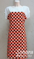 Платье Reva&Ro м.7295 р.38(44) оранжевый