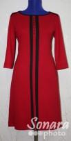 Платье Reva&Ro м.7386 р.36-42(42-48) красный