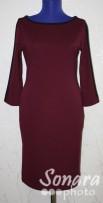 Платье Reva&Ro м.7390 р.36-40(42-46) бордо,красн,черн