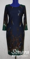 Платье Reva&Ro м.7394 р.36-42(42-48) бордо,синий