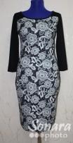 Платье Reva&Ro м.7400 р.36,42(42,48) черный