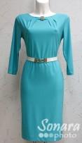 Платье Reva&Ro м.7414 р.40,42(46,48) бирюзовый