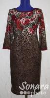Платье Reva&Ro м.7441 р.36(42) коричневый
