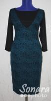 Платье Reva&Ro м.7443 38-42(44-48) синий,черный,1100руб.