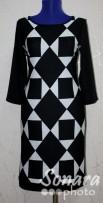Платье Reva&Ro м.7503 р.36,38(42,44) черный
