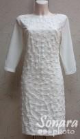 Платье Reva&Ro м.7551 р.36-42(42-48) бежевый