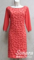 Платье Reva&Ro м.7551 р.36-42(42-48) коралловый