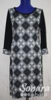 Платье Reva&Ro м.7657 р.36-40(42-46) бежев,черный