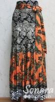 Юбка Fomanta м.1589 дл.90 р.42-50(48-56) оранж,зелен