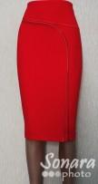 Юбка Fomanta м.2612 дл.65 р.42-50(48-56) красный