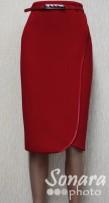 Юбка Fomanta м.2745 дл.65 р.42-48(48-54) красный
